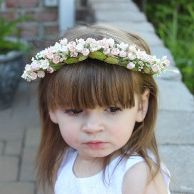 Floral Bridal Headpiece/ Garden Wedding / Flower girl crown / Wedding hair accessory