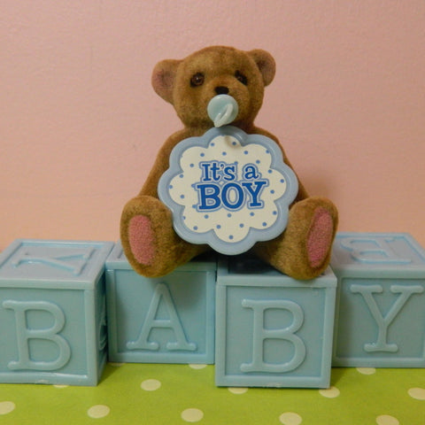 """It's A Boy"" Bear Topper"