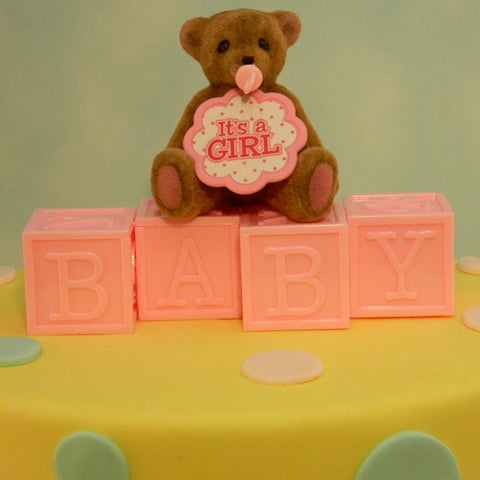 """It's A Girl"" Bear Topper"