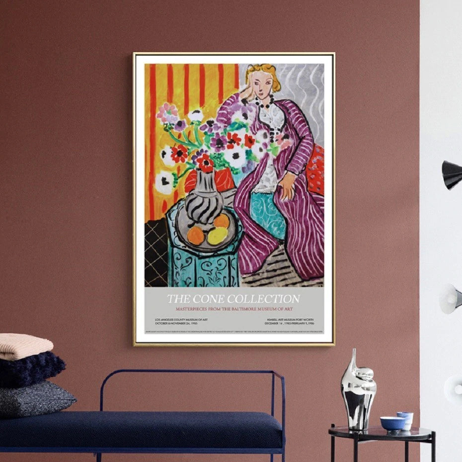 Vintage Henri Matisse Gallery Expo Abstract Wall Art Posters Fine Art Canvas Prints Nordic Style Gallery Wall Art For Modern Interior Home Decor