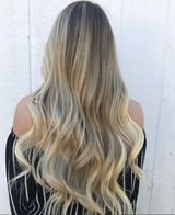 Remy Tape In Hair Extensions Natural Dark Blonde Highlights