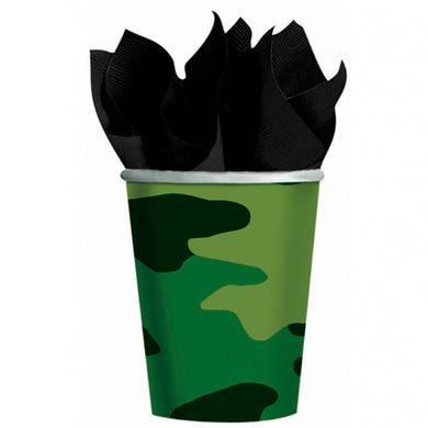 Camo Paper Cups (Pack of 8)