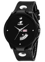 Sunday Sale Espoir Analogue Black Dial Day and Date Men's Boy's Watch - BikerRyanMovado