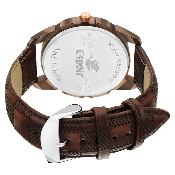 Sunday Sale Brown Quartz Watch For Men