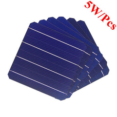 IP Mono-crystalline 5W Solar Cells 100 Pcs Packet