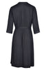 MamaMoosh Indulgence Maternity Dressing Gown Black - back