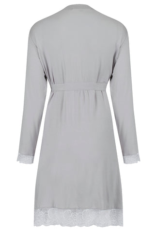 Allure Dressing Gown - Light Grey