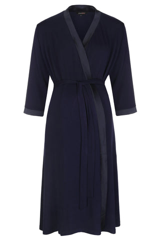 Mirage maternity nursing dressing gown robe navy