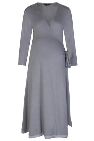MamaMoosh Mirage Labour Wrap Dress Grey