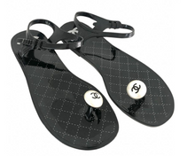 Load image into Gallery viewer, Chanel Rubber Sandals Sz. 39