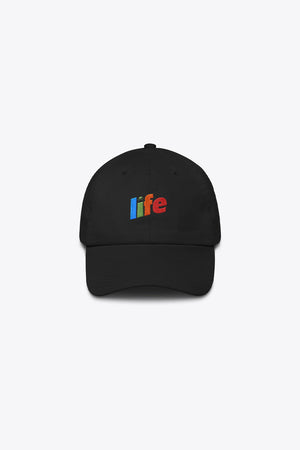 LIFE MADE ME THIS WAY DAD HAT IN BLACK
