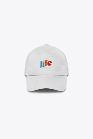 LIFE MADE ME THIS WAY DAD HAT IN WHITE