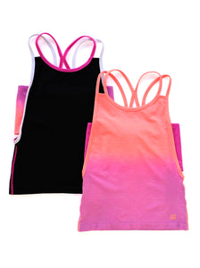 BLACK & CORAL OMBRE TANK 2-PACK