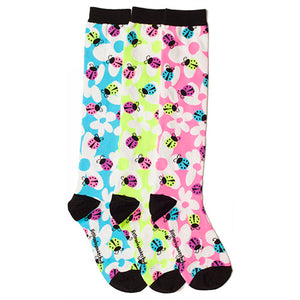 LADYBUGS & FLOWERS KNEE HIGH SOCKS