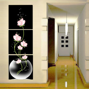 3 Panel Flowers Canvas
