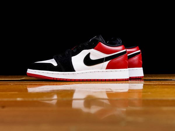 Kid's Air Jordan 1 Low 'Black Toe' GS [553560-116]