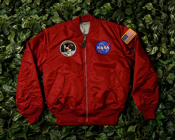 Men's Alpha Industries Apollo Ma-1 Flight Jacket [MJM21097C1-RED]
