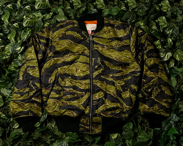 Men's Alpha Industries MA-1 Coalition Blood Chit Jacket [MJM48500C1-TIGER]