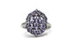 Light Purple Tourmaline Ring in Platinum Plated Sterling Silver