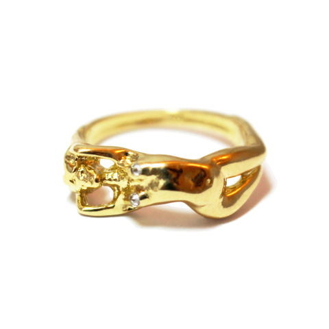 Athena 18K Yellow Gold Small Ring with Diamond
