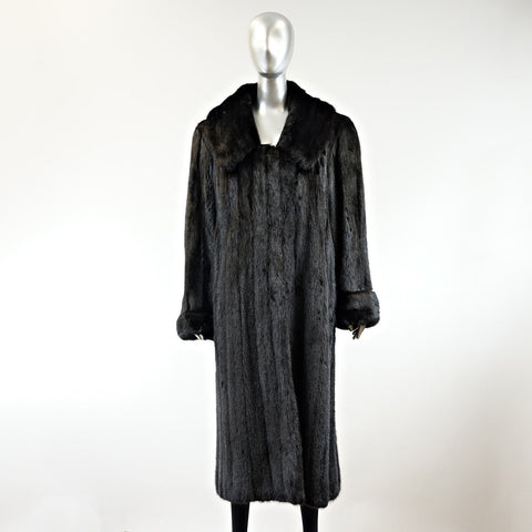 Ranch Mink Fur Coat - Size M - Pre-Owned