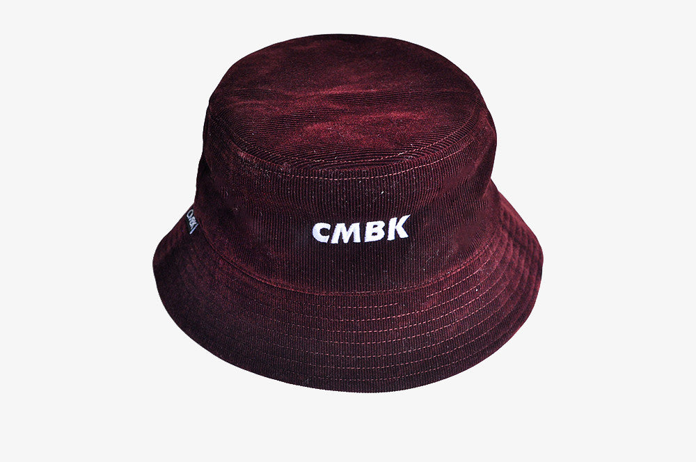 CMBK Burgundy Corduroy Bucket Hat