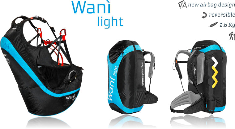 Woody Valley Wani Light Paraglider Harness & Pack - Planet Paragliding