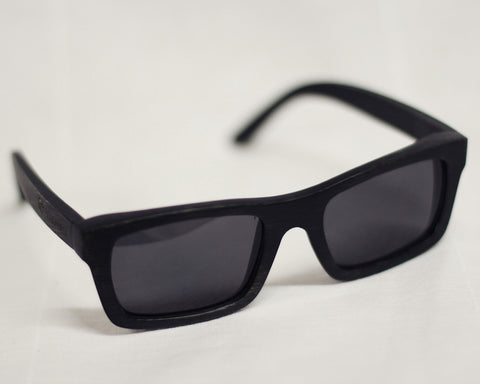 Wood Sunglasses painted black