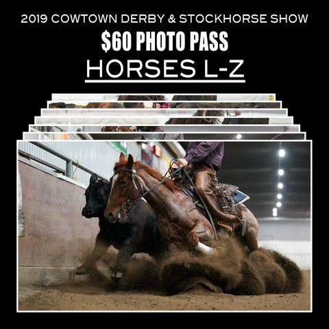 2019 Cowtown Derby Photo Pass | Horses L-Z