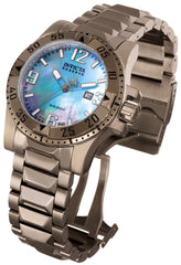 Invicta Men's 0515 Excursion Quartz 3 Hand Platinum Dial Watch