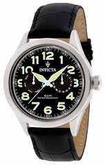 Invicta Men's 11741 Vintage Quartz 3 Hand Black Dial Watch