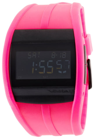 Vestal Unisex CRU007 Crusader Digital Neon Pink Surf Watch