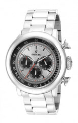 Invicta  Men's 15065 Vintage Quartz Chronograph Black, Antique Silver Dial Watch