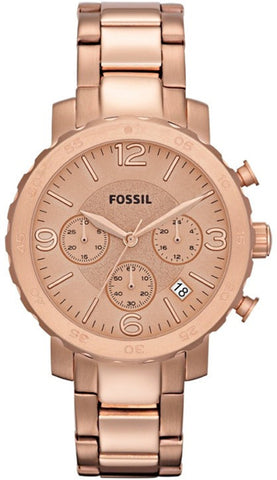 Fossil Women's AM4423 Natalie Stainless Steel Rose-Tone Watch