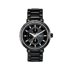 Fossil Fossil Ladies Multi-Function Black Ceramic Glitz Watch
