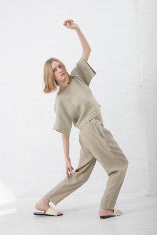 Black Crane Petal Top in Cement | Oroboro Store | New York, NY