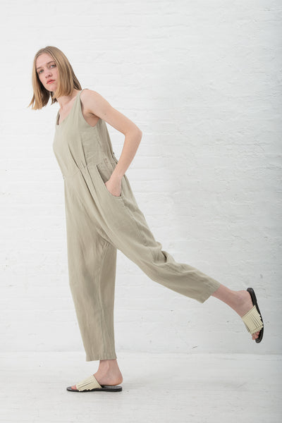 Black Crane Overall in Cement | Oroboro Store | New York, NY