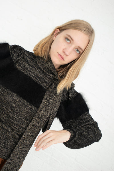 Ulla Johnson Fabia Pullover in Noir | Oroboro Store | New York, NY