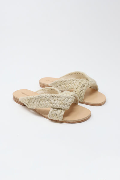 A Detacher Pipit R Slides in Natural Jute | Oroboro Store | New York, NY