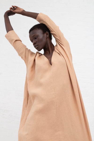 Rachel Craven Long V-Neck Cocoon Dress in Sand Pink | Oroboro Store | New York, NY