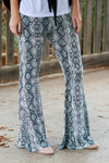 Python Pretty Bell Bottom Pants