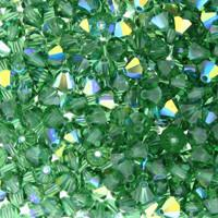 Green Tourmaline AB Crystal Beads