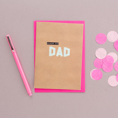Number One Dad Washi Tape Card
