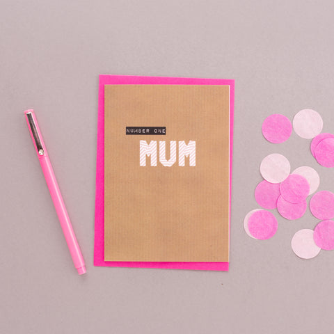 Number One Mum Washi Tape Card