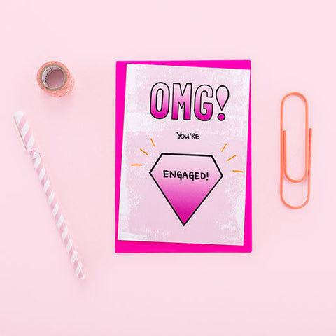 OMG You're Engaged Super Fab Card