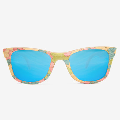 Summer woodland camouflage wood sunglasses