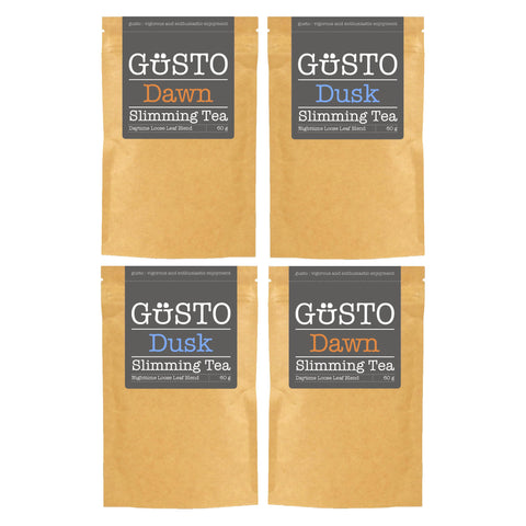GUSTO Slimming Tea - Four Pack - 2xDawn & 2xDusk