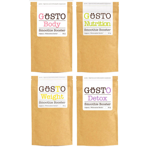 GUSTO 4 Pack - BEAUTY - Body, Detox, Nutrition, Weight