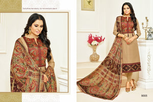 Fancy Chiku color Salwar Suit
