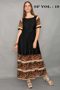 Adhesive Black color Gown